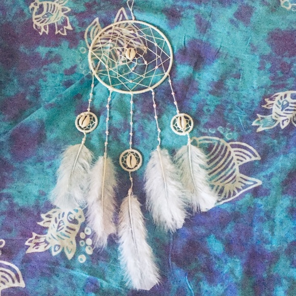 handmade by me Other - White & Pastel Pink Cowrie Shell Dreamcatcher